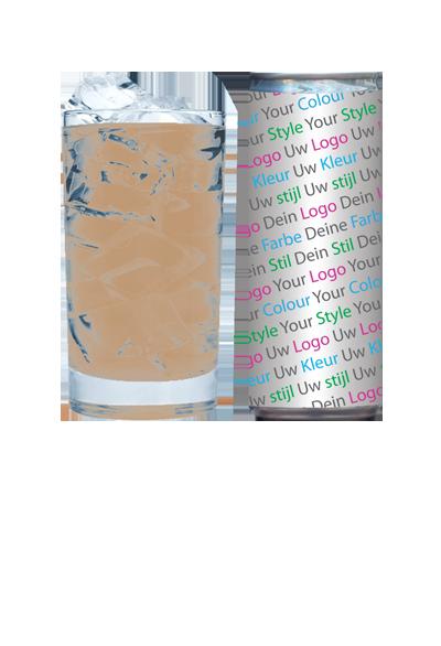 logo fles drankenreclame bottle reclame kleurstijl ijskoffie