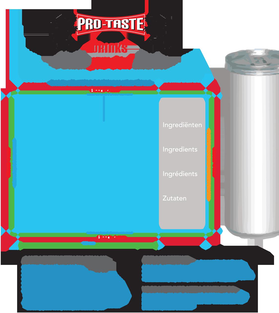 protaste aanleverspecificaties energiedrank energydrink